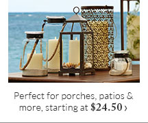 Perfect for porches, patios & more, starting at $24.50