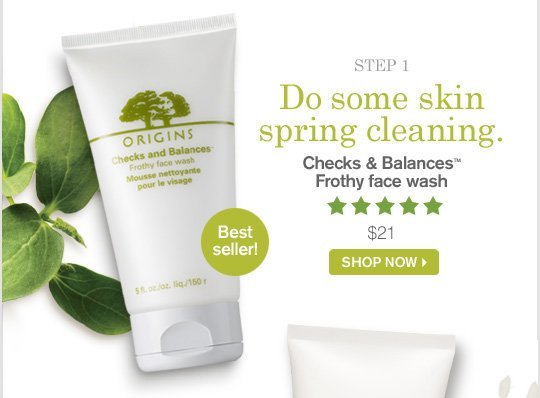 Do some skin spring cleaning Checks and Balances Frothy face wash 21 dollars SHOP NOW