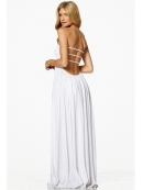 Elan Strapless Ladder Dress in White