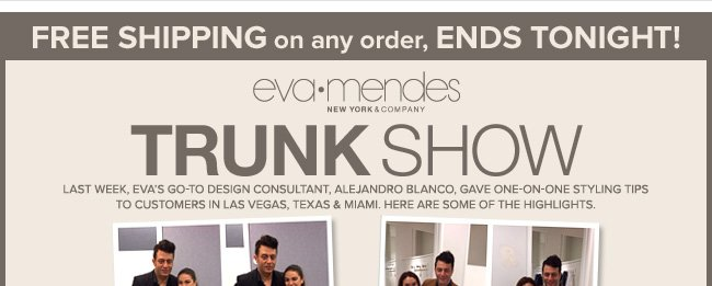 FREE Shipping + Final Hours to Save $60 on the Eva Mendes Collection!