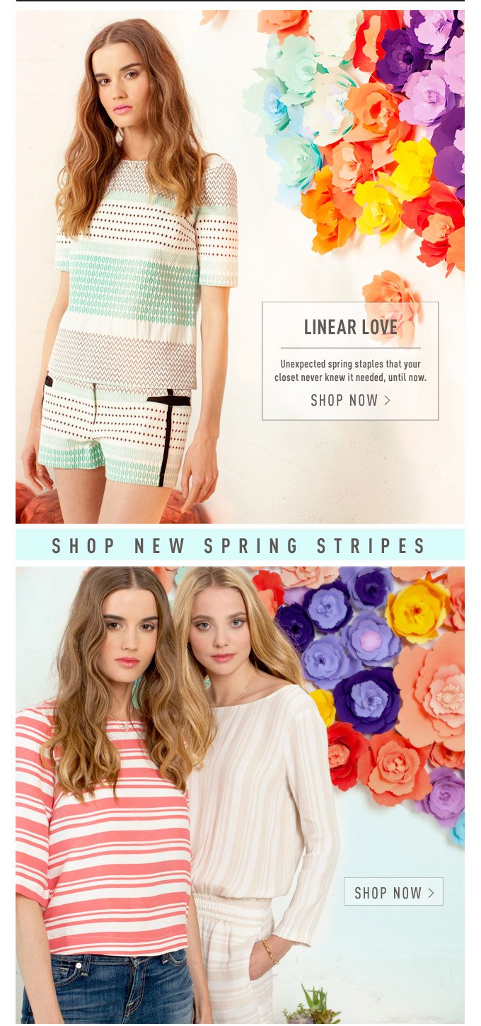 Linear Love - Shop New Spring Stripes