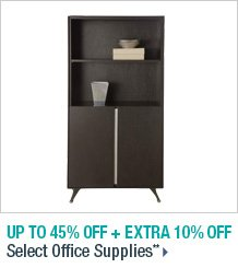 Up to 45% off + Extra 10% off Select Office Supplies**