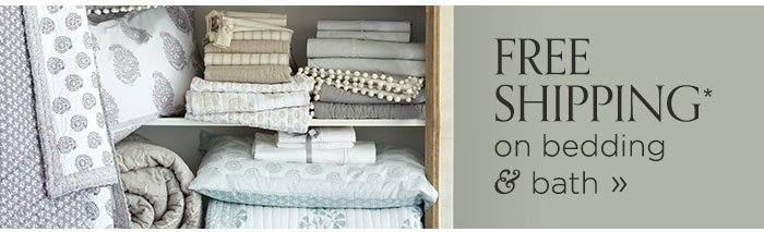 free shipping on bedding and bath
