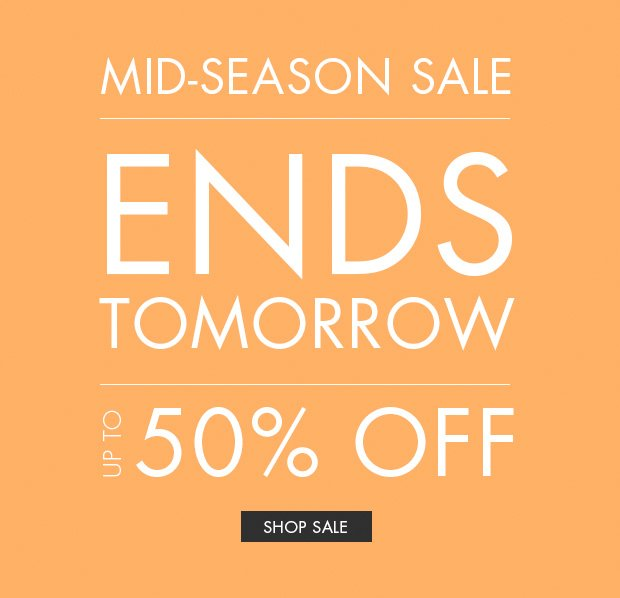 Download Images: Shop mid-season sale, up to 50% off.