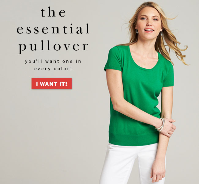 The essential pullover. You'll want one in every color! I want it!