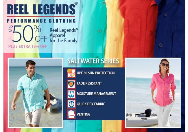 Up to 50% off Reel Legends for The Family
