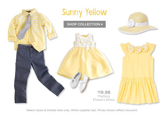 Sunny Yellow. Shop Collection.