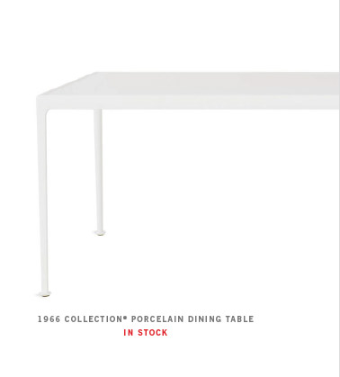 1966 COLLECTION ® PORCELAIN DINING TABLE IN STOCK