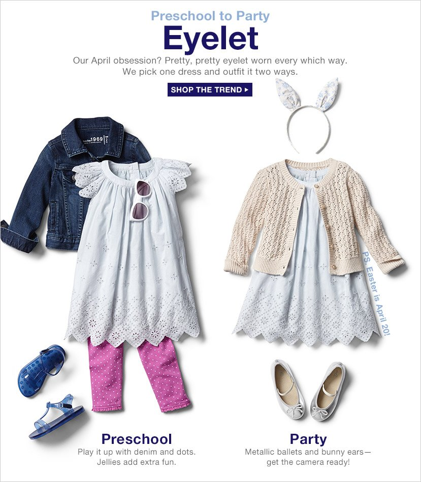 Preschool to Party | Eyelet | SHOP THE TREND