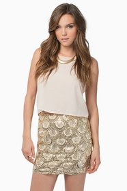 Scallops and Sequins Skirt $0