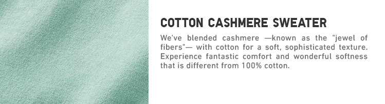 Cotton Cashmere Sweaters