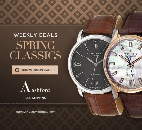 New Weekly Deals at Ashford.com!