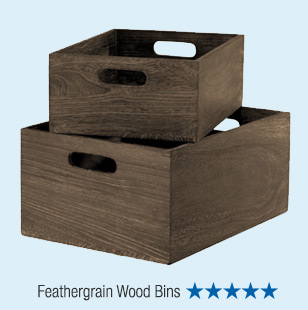 Feathergrain Wood Bins - 5 Stars »