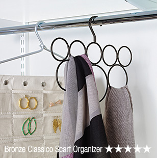 Bronze  Classico Scarf Organizer - 5 Stars »