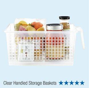 Clear  Handled Storage Baskets - 5 Stars »