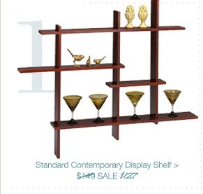 Standard Contemporary Display Shelf > | SALE $127