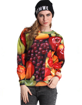 Fruit Print Sweatshirt