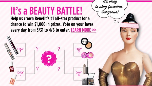 The Ultimate Benefit Face-Off! YOU pick the winner.