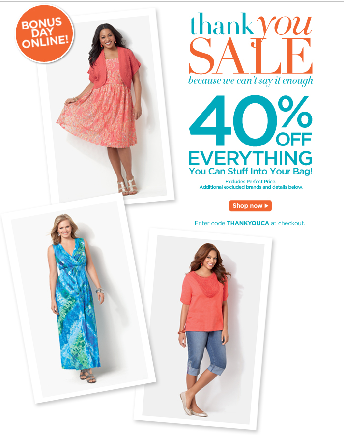 Thank You Sale: 40% off Everything