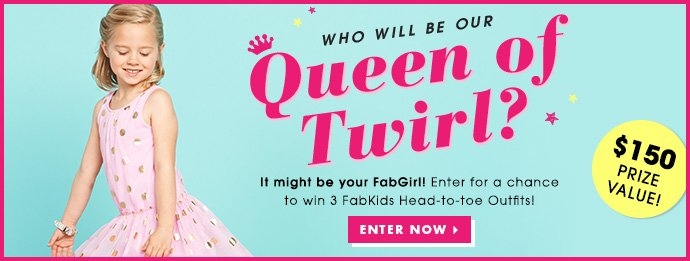 Enter The Queen Of Twirl Contest.