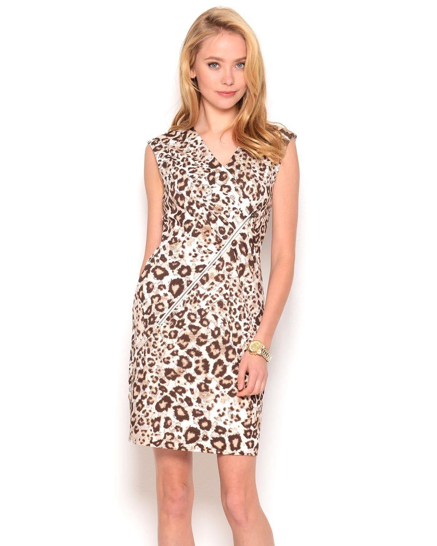 Lynn Ritchie Leopard Print Sleeveless Dress