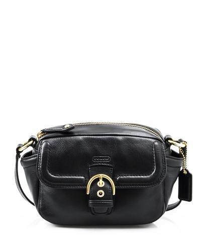 Coach Genuine Leather Camera Crossbody Bag