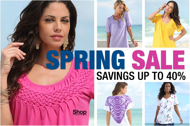 Spring Sale! Savings up to 40%!
