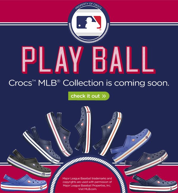 Play Ball - Crocs MLB Collection is coming soon. check it out