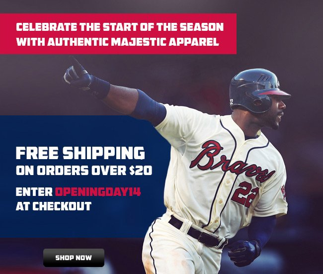Free shipping with promocode openingday14