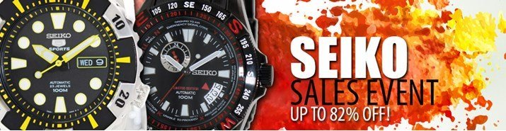Save up to 82% during the Seiko watches sales event
