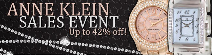 Save up to 42% during the Anne Klein watches sales event