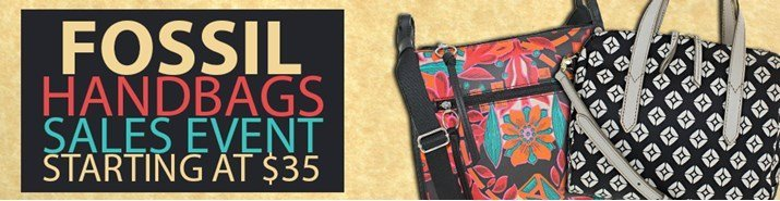 Save up to 48% during the Fossil handbags sales event