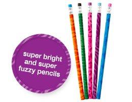super bright and super fuzzy pencils