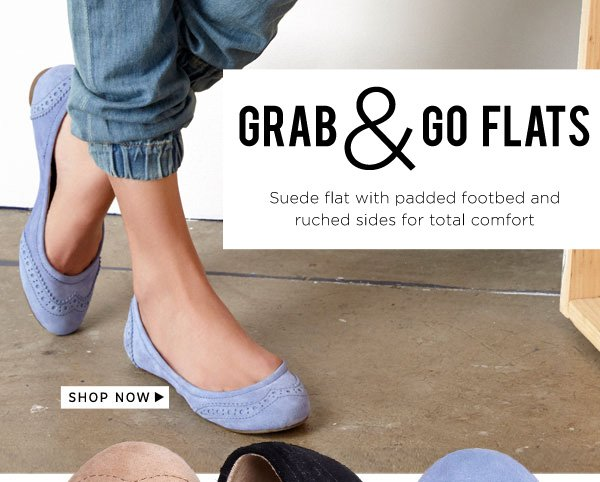 Grab & Go Flats. Shop Tanya