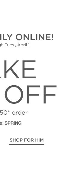$50 off Online Purchase