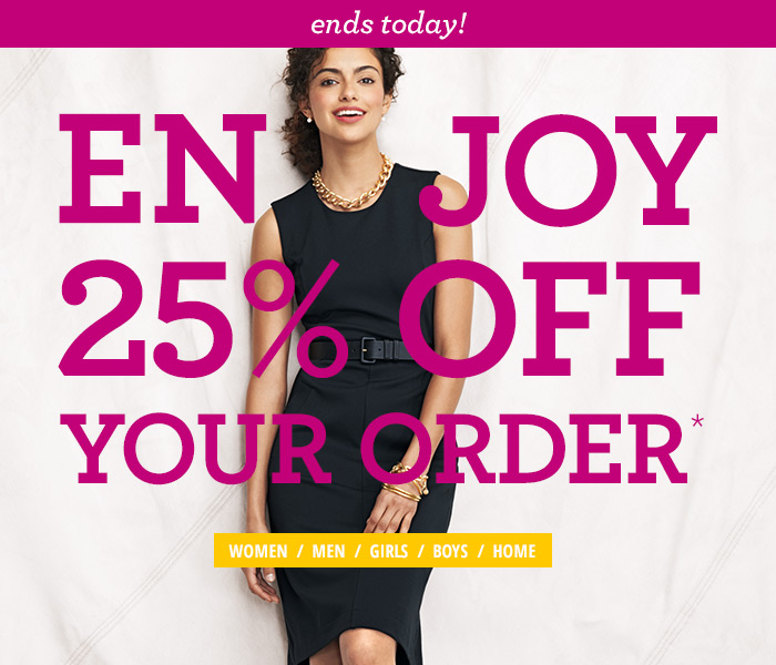 Enjoy 25% Off Your Order
