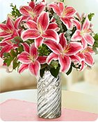 Stunning Pink Lily Bouquet  Shop Now