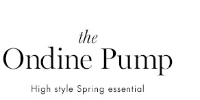 the Ondine Pump                                      High style Spring essential