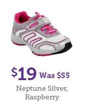 $19 Was $55 Neptune Silver, Raspberry