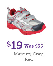 $19 Was $55 Mercury Grey, Red
