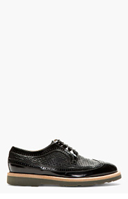 PAUL SMITH Black Leather Longwing Brogues for men