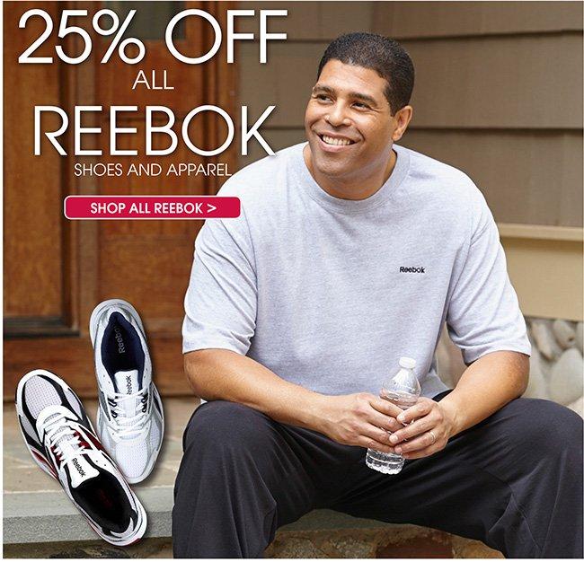 25% off Reebok