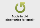 Trade in old electronics for credit