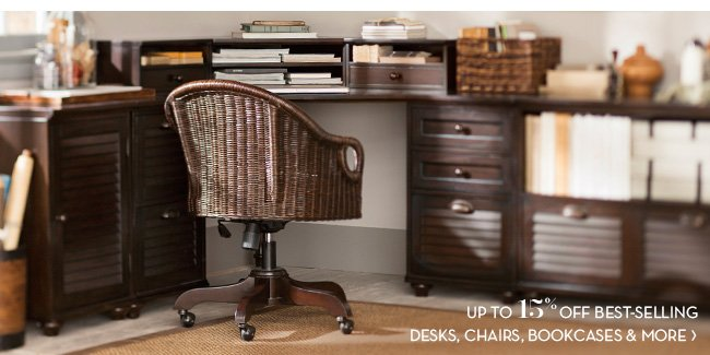 DESKS, CHAIRS, BOOKCASES & MORE