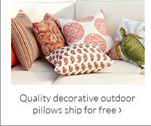 Quality decorative outdoor pillows ship for free