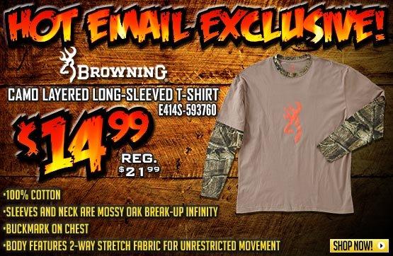 Men's Browning® Camo Layered Long-sleeved T-shirt