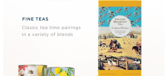 Fine Teas: Class tea time pairings in a variety of blends