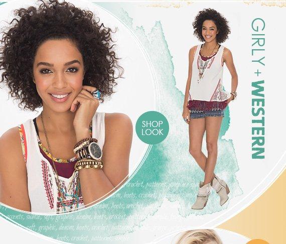Shop Girly Western Look