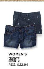WOMEN'S SHORTS   REG. $22.94