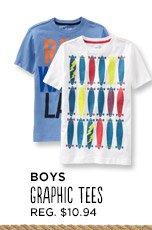 BOYS GRAPHIC TEES   REG. $10.94